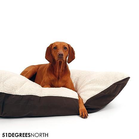 Perros Cojín perros grandes, Super Suave, cama para perros beige marrón, sheep Collection