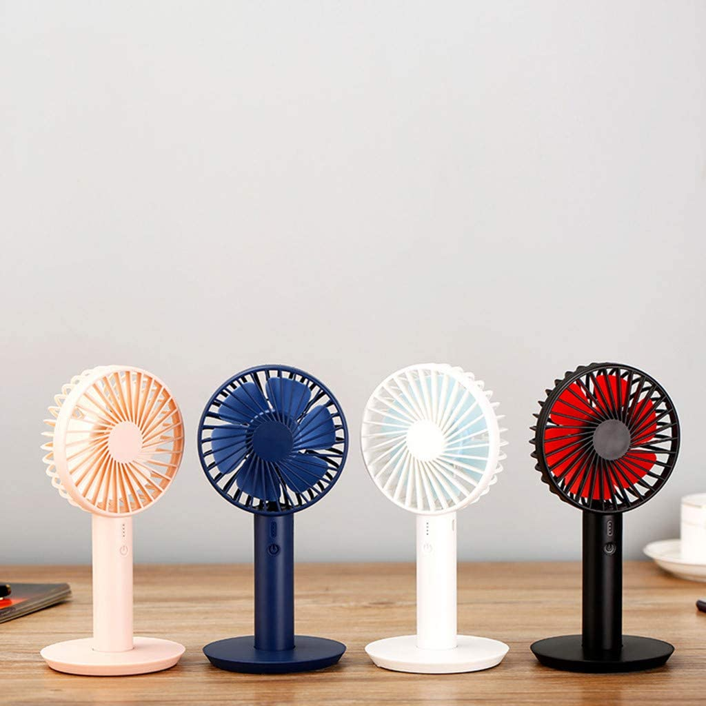 White Wulofs Summer Essential Portable Mini Fan with Display Screen USB Rechargeable Hand-held Cooling Fan