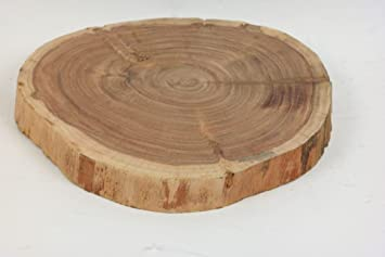 Amazon De Inna Glas Deko Holz Scheibe Nino Natur 4 5 Cm O 24 Cm