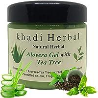 Khadi Natural Herbal Aloevera and Tea Tree gel For Face and Skin Paraben Free-180 ml