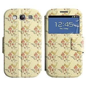 LEOCASE Pájaros Del Amor Funda Carcasa Cuero Tapa Case Para Samsung Galaxy S3 I9300 No.1000004