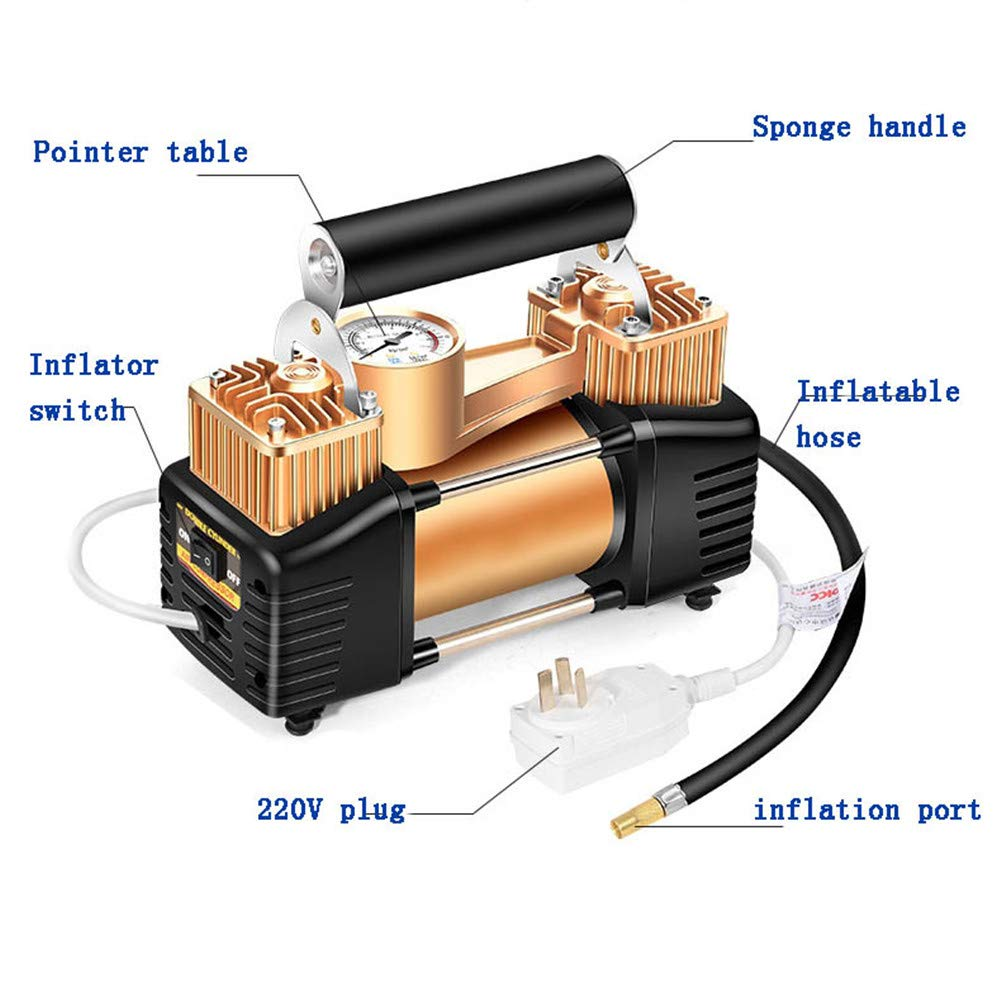 WERSDF Bomba de Aire de Doble Cilindro de Alta presión Compresor de ...