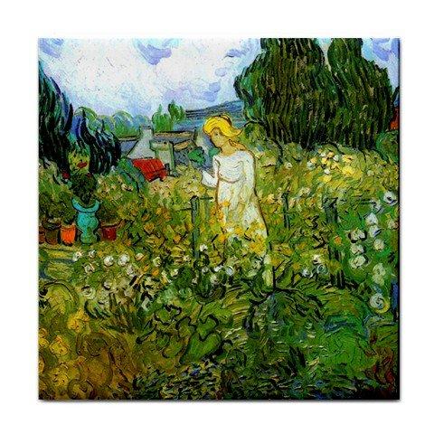 - Marguerite Gachet in the Garden By Vincent Van Gogh Tile Trivet
