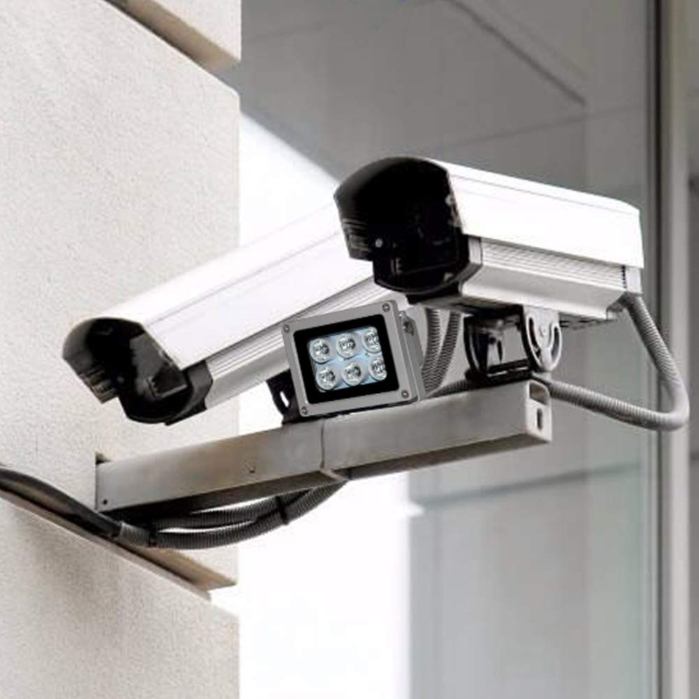 18W 6 LED Infrared Lamp Fill Light Night Vision IR Illuminator Lamp for CCTV Security Camera IP65 Waterproof