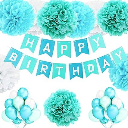Geburtstagsdeko Rosa und Blau blau Geburtstagsdeko M/ädchen und Jungen Deko Geburtstag M/ädchen und Junge