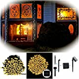 Outdoor Solar String Lights by FirstLights – Christmas Patio Waterproof Lights – 39 feet – 100 LED Powered Fairy Lights – Warm White
