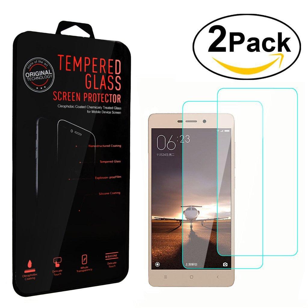 2 Pack Pellicola Vetro Temperato Xiaomi Redmi 4A Pellicola Protettiva, Frrency® Ultra Sottile Premium Tempered Glass HD Screen Protector 9H 2.5D 0.26mm Per Xiaomi Redmi 4A
