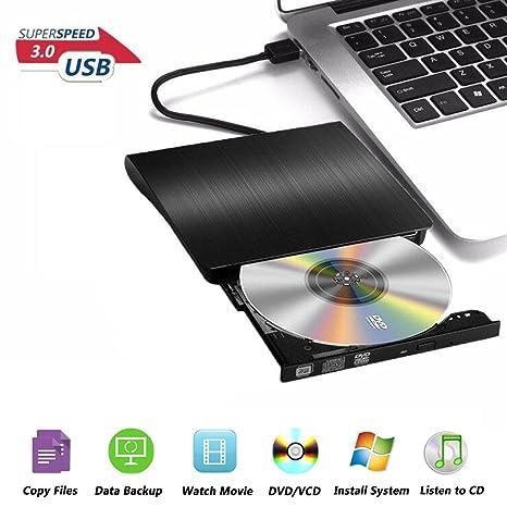 Grabadora DVD/CD Externa, Lector de DVD, Unidad CD Externa USB 3.0,