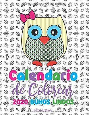 Calendario de Colorear 2020 búhos lindos edición españa: Amazon.es ...
