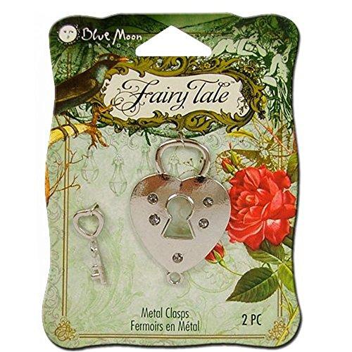 Bundle,Blue Moon Beads - Fairy Tale - Metal Jewelry Clasp - Toggle Lock Key - Silver [2 -