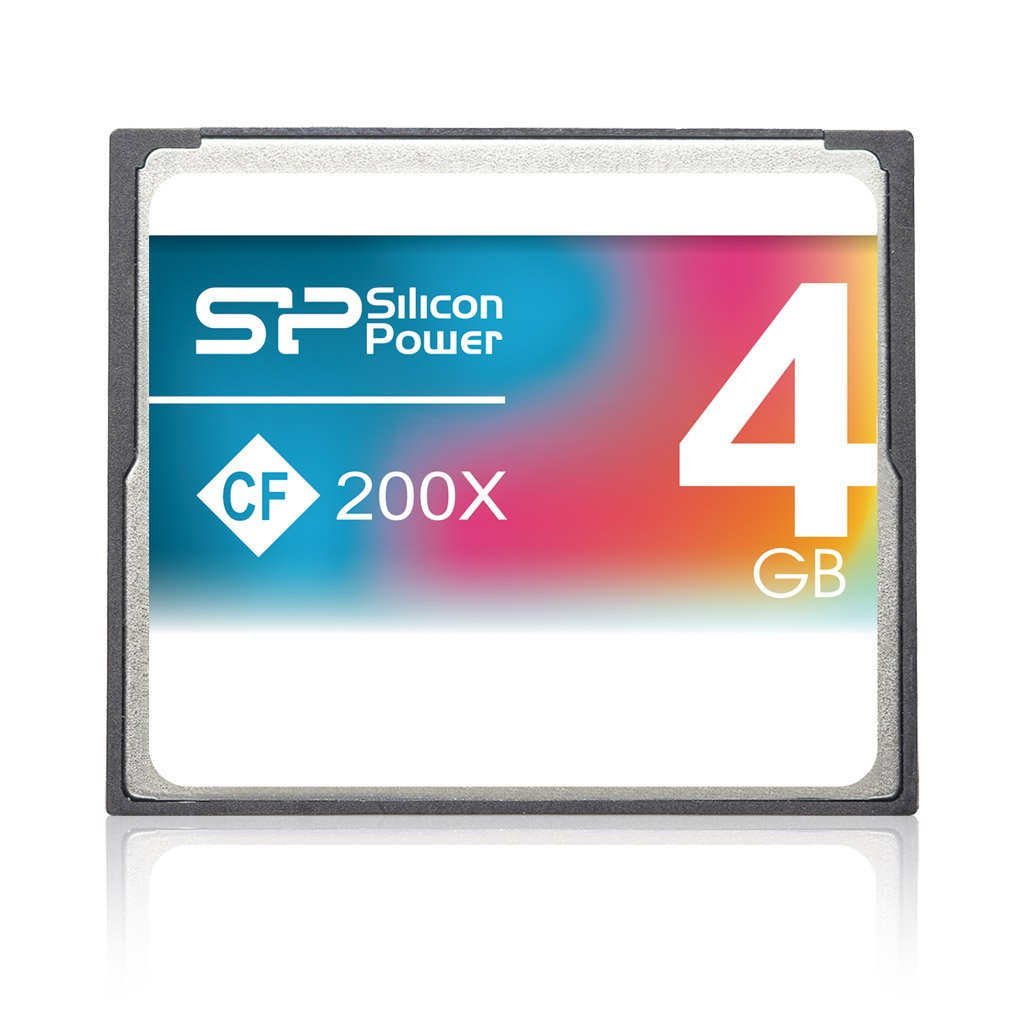 Silicon Power 4GB 200x High Speed Compact Flash CF Memory Cards