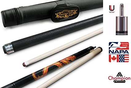 Amazon Com Champion Dragon Pool Cue Stick With Predator Uniloc Joint Low Deflection Shaft Black Or White Case Retail Price 295 55 Sports Outdoors