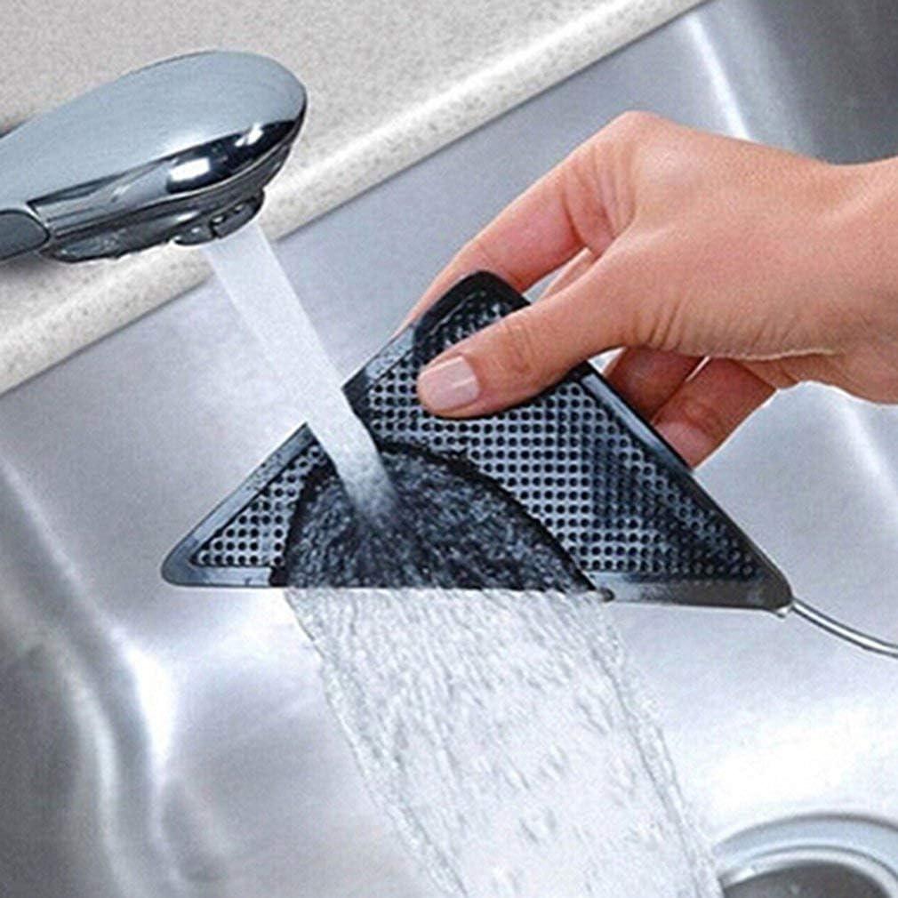 Garciakia 4 Pcs Anti Skid Rug Carpet Mat Non Slip Grip Small Corners Triangular Pad Washable Removable Strong Adhesive