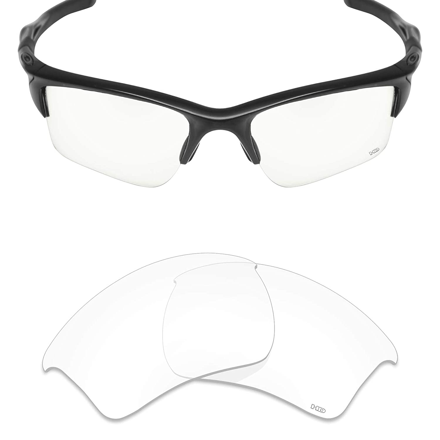 4fb20df292 Amazon.com  Mryok+ Polarized Replacement Lenses for Oakley Half Jacket 2.0  XL - HD Clear  Clothing