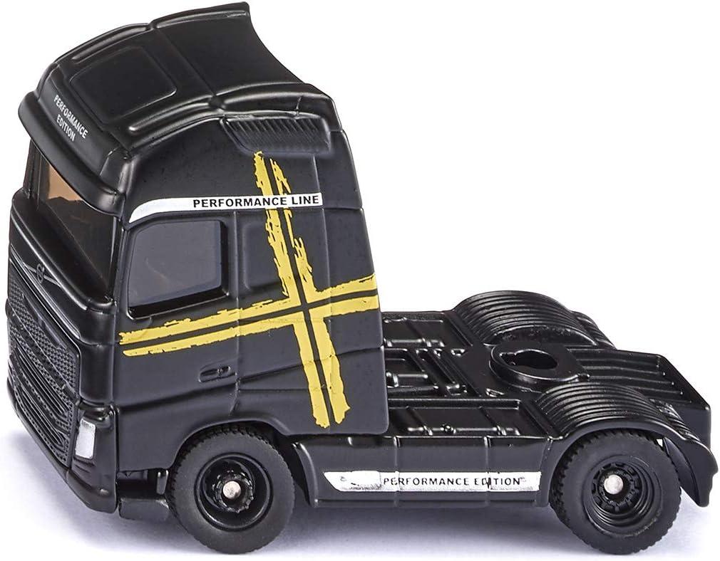SIKU 1543, Camión Volvo FH16 Performance, Negro, Metal/Plástico, Ruedas de goma, Combina con remolques SIKU a escala 1:87