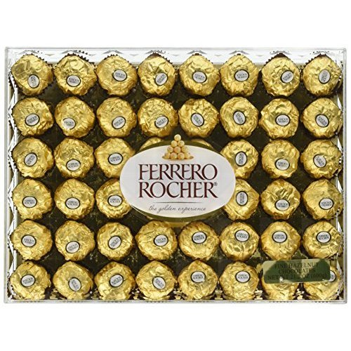 Ferrero Rocher Fine Hazelnut Chocolates, 21.1 Oz, 48 Count by Ferrero Rocher (Image #1)