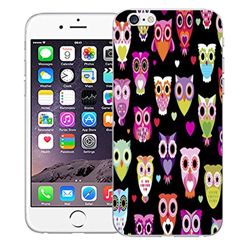 "Mobile Case Mate iPhone 6S Plus 5.5"" Silicone Coque couverture case cover Pare-chocs + STYLET - Sophisticated Owl pattern (SILICON)"