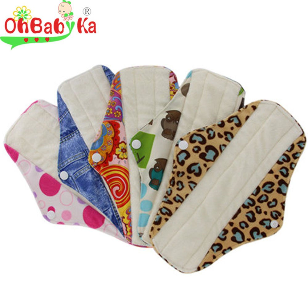 Compresas sanitarias de bambú, reutilizables, para mujeres, y estuche para toallitas húmedas; de OHBABYKA: Amazon.es: Salud y cuidado personal