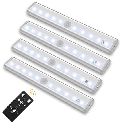 SZOKLED Remote Control LED Lights Bar, Wireless Portable LED Under Cabinet  Lighting, Dimmable Closet