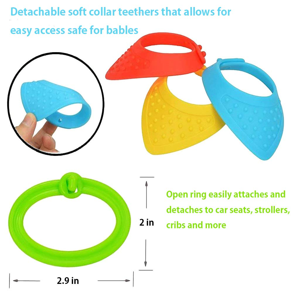 Multifunctional Stroller Toys Soft Multi Sensory Activity Toy rattles Pendant Plush Toy for Baby Animal for Baby Owl Sozzy