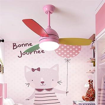 JINWELL Ventiladores de techo con luces LED Mando a distancia ...
