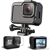 هيكل حماية من البلاستيك لكاميرا جوبرو8، حامل اطار مزود بفتحة جانبية، ملحقات جوبرو8