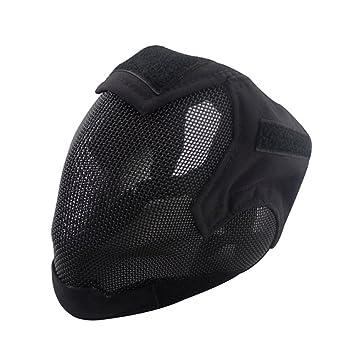 V6 Valla de malla de acero de alta calidad de Cosplay Máscara Full Cover Face Protectora