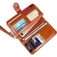 Earnda Bifold Wristlet Wallet for Women (Brown)
