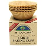 If you care Unbleached Large Baking Cups, 60-Count Boxes, Brown