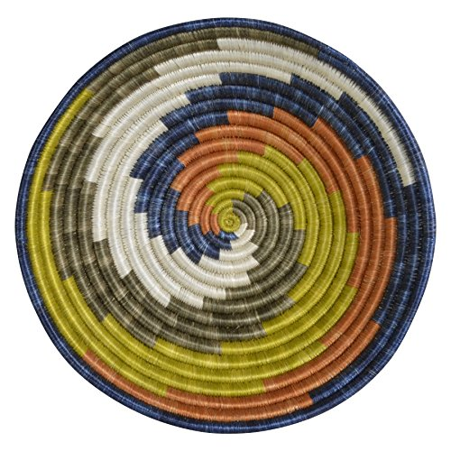 All Across Africa Handwoven 12-inch Unity Basket, Russet