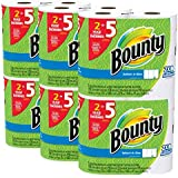 Bounty Select-a-Size Paper Towels, White DSFC Huge Roll, 2 Pack(12 Count)