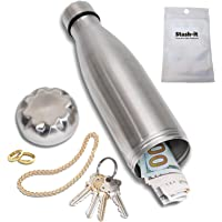 Diversion Water Bottle Can Safe by Stash-it | Stainless Steel Tumbler Safe | Bonus Smell Proof Bag | Bottom Unscrews to Store Your Valuables!