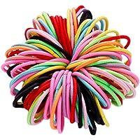 TOYANDONA 100pcs Baby Nylon Hair Band Color Lazos para el Cabello elástico Cola de Caballo Titular