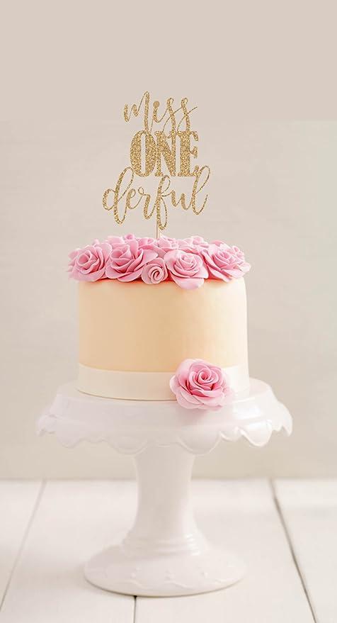 qidushop Miss Onederful - Decoración para primer cumpleaños ...