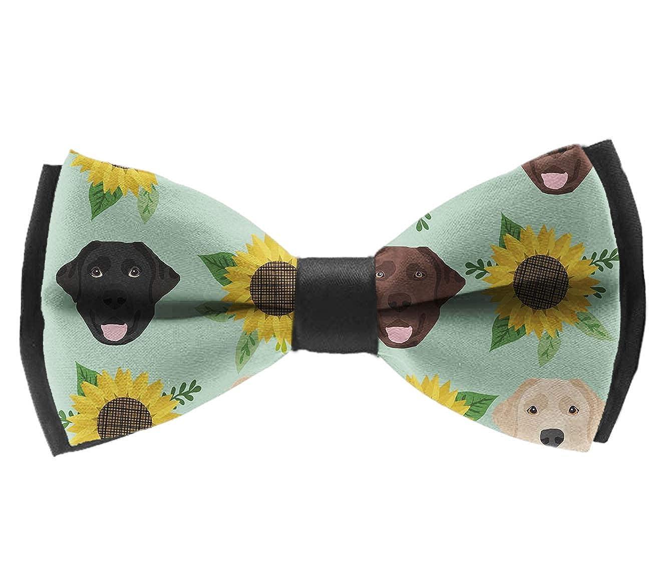 Labrador Floral Sunflower Bow Tie for Men Tuxedo /& Wedding Solid Color