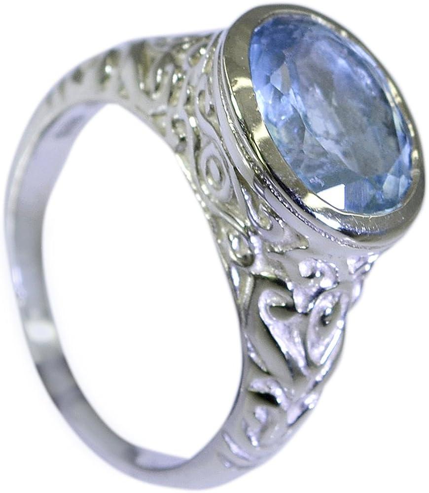 55Carat Natural Blue Topaz Ring 925 Silver Oval Shape Men Women Size US 5 6 7 8 9 10 11 12