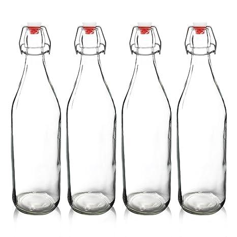 yeboda claro botellas de vidrio con tapón para fermentar cerveza ...