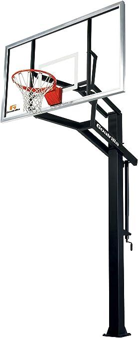 Amazon.com: Sistema de baloncesto anclado al piso Goalrilla ...