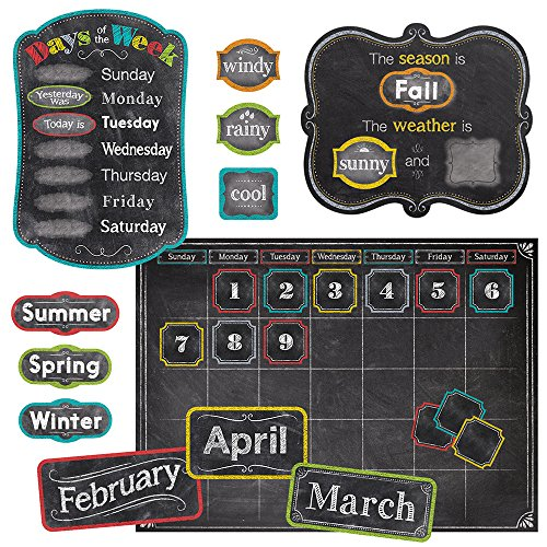 Creative Teaching Press Chalk It Up! Calendar Set Bulletin Board (4728) -
