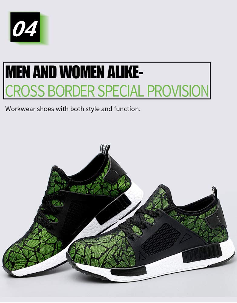 Steel Toe Covers Working Shoes Breathable Summer Tooling Boots Men and Women Lightweight Industrial & Construction Shoe by AiKim (Image #5)