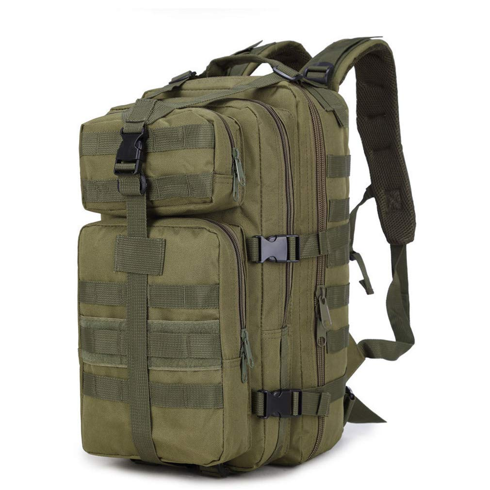 Purpume 35L Military Tactical Backpack Oxford 3P Bags Tactical Backpack Army Green