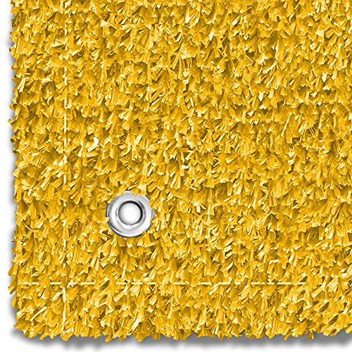 House, Home and More Outdoor Turf Wedding Aisle Runner - Yellow - 3 Feet x 20 Feet