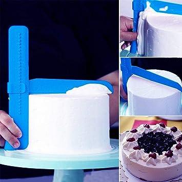 Edelstahl Kuchen Smoother Schaber Werkzeuge Fondant DIY Sugarcraft Back Werkzeug