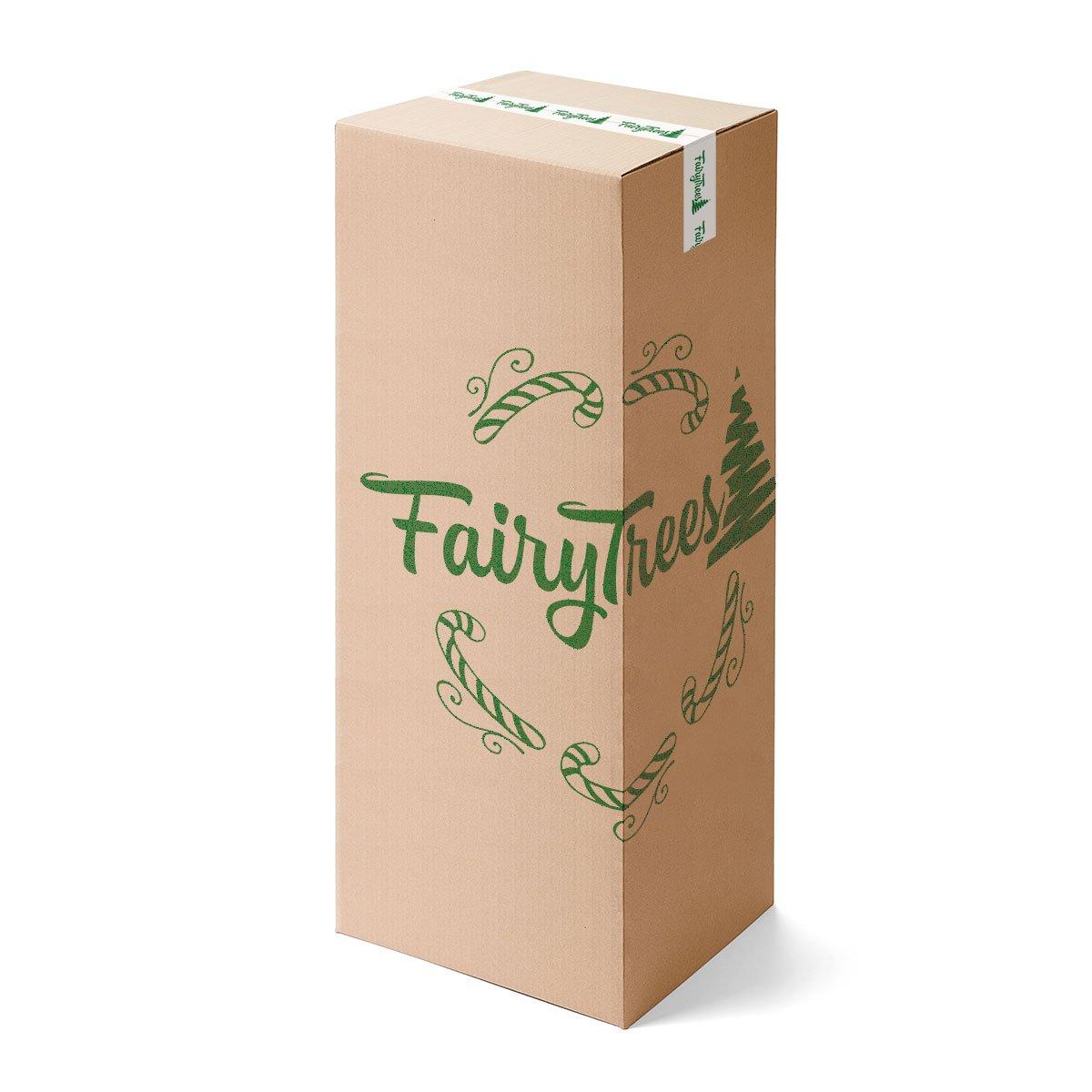 FairyTrees Árbol de Navidad Artificial Picea Alpino Premium, Material Mix PU y PVC, el Soporte en Metal, 180cm, FT17-180: Amazon.es: Hogar