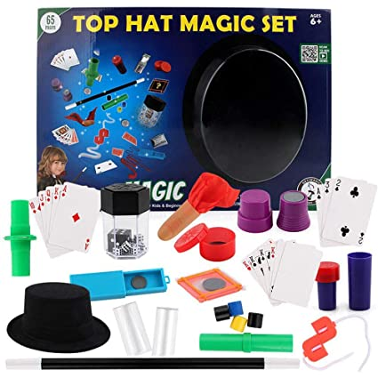 4d7f8b75a Deluxe Magic Kit Set Kids Toy Wand Magic Tricks Beginners - Boy Girl Gift -  Idea Toy for Kids 6 7 8 9 Years and Up: Amazon.in: Home & Kitchen