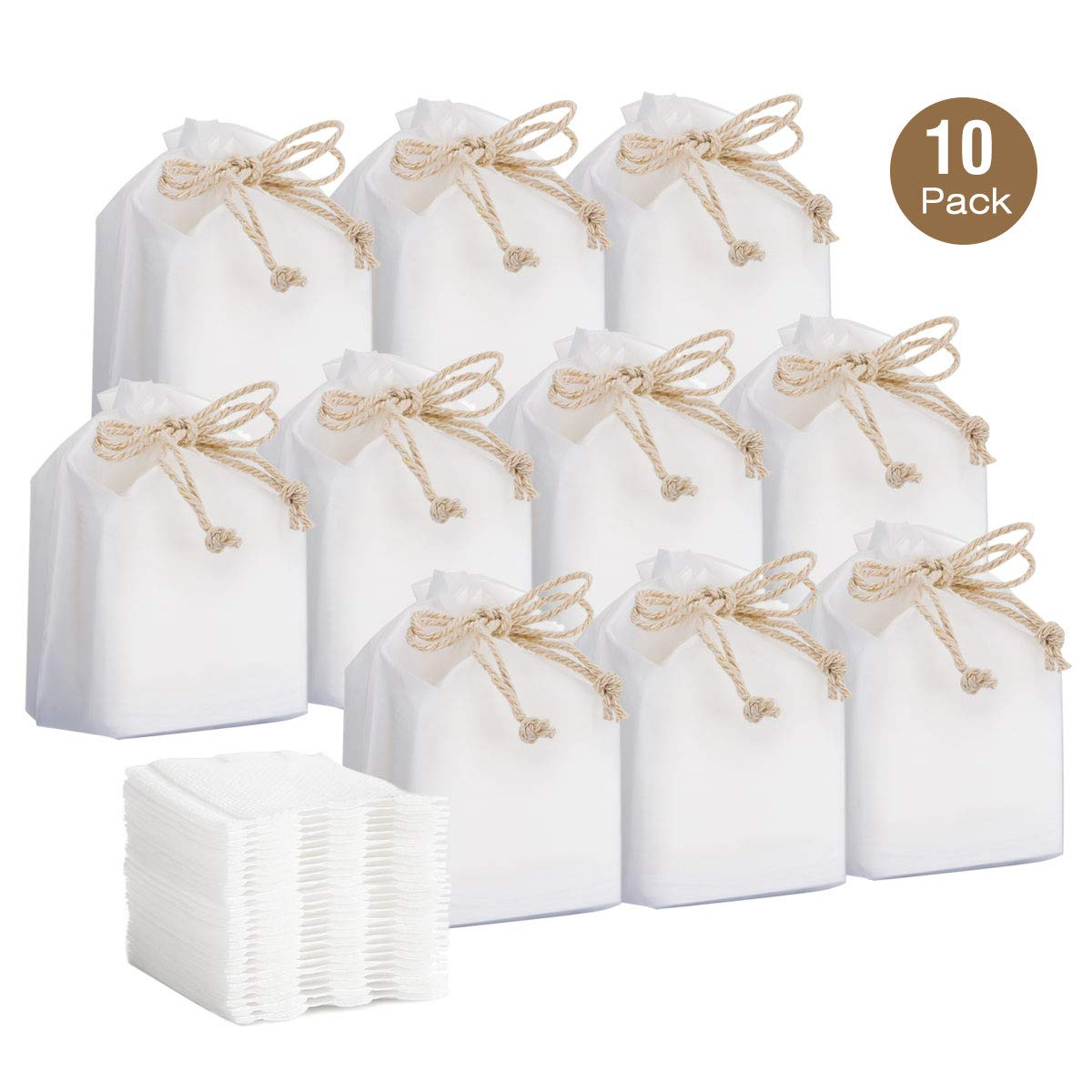 Luxspire 10-Pack 300 Count Cotton Pads, Soft Lint-Free Multi-Layer Square Facial Eye Makeup Remover Cotton Rounds Balls Cleansing Cotton Sponge Makeup Tool - White