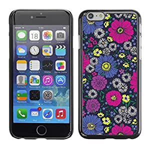 [Neutron-Star] Snap-on Series Teléfono Carcasa Funda Case Caso para Apple (4.7 inches!!!) iPhone 6 / 6S [Diseño floral rosado del papel pintado de la vendimia]