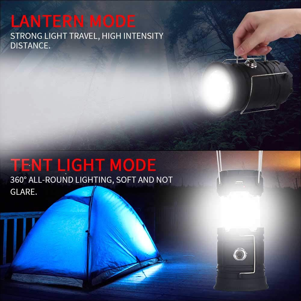 Power Outage ANDY STAR Tek Inc. Solar Camp Lantern Light,USB Charging Lithium Battery Operated Lantern Flashlight for Hurricane,Camping,Backpacking,Emergency