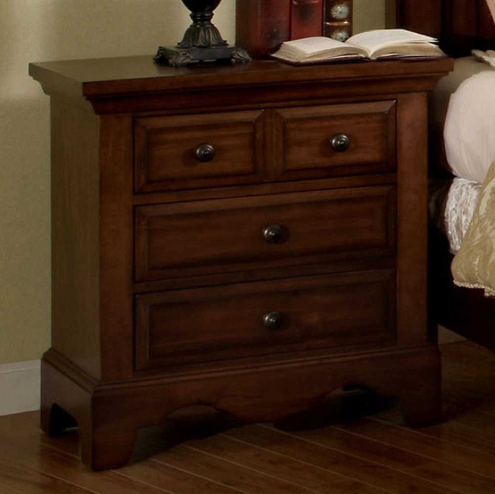 Amazon com furniture of america cm7888n palm coast light walnut nightstands 28 33 h kitchen dining