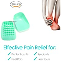 Shock Absorbing Heel Cups by PEDIMEND - Heel Cups for Achilles Tendonitis - Heel Cushions for Heel Spur, Heel Pads Great for Plantar Fasciitis - Men & Women - Foot Care